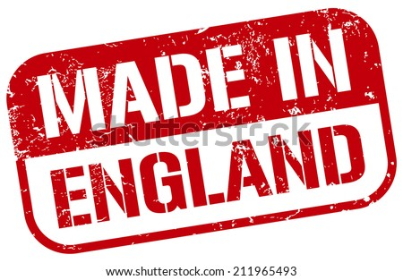 made in england stamp - stock vector