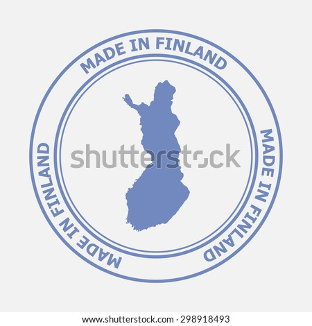 Made in Finland seal. Sign of production. Vector illustration EPS8 - stock vector