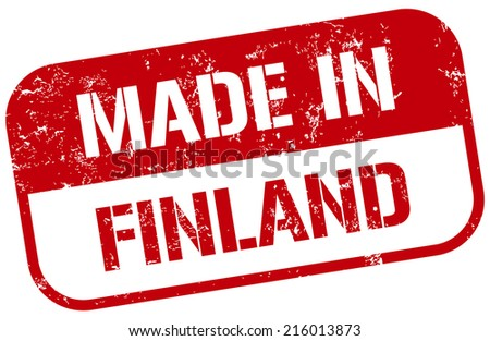 made in finland stamp - stock vector