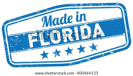made in florida - stock vector