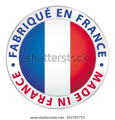Made in France. Guaranteed flag vector label. - stock vector