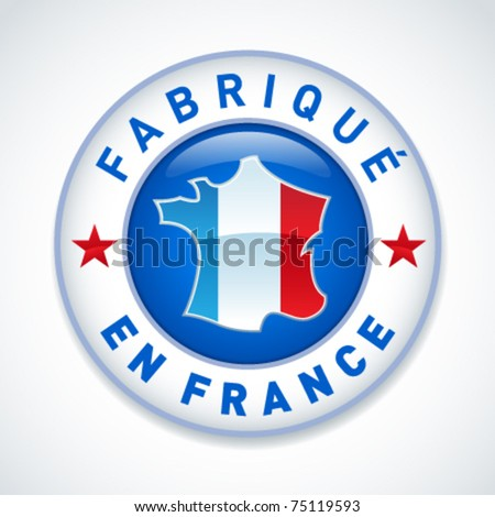 Made in France icon - stock vector