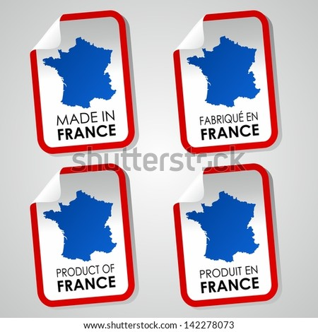 Made in France vector illustration - stock vector