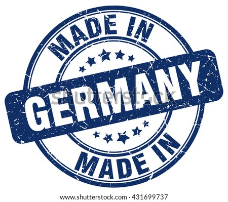 made in Germany blue round vintage stamp.Germany stamp.Germany seal.Germany tag.Germany.Germany sign.Germany.Germany label.stamp.made.in.made in. - stock vector