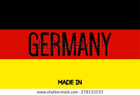 Made in Germany. German flag - stock vector