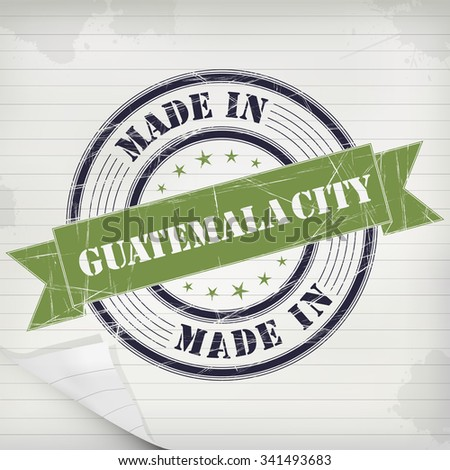 Made in Guatemala City vector rubber stamp on grunge paper - stock vector