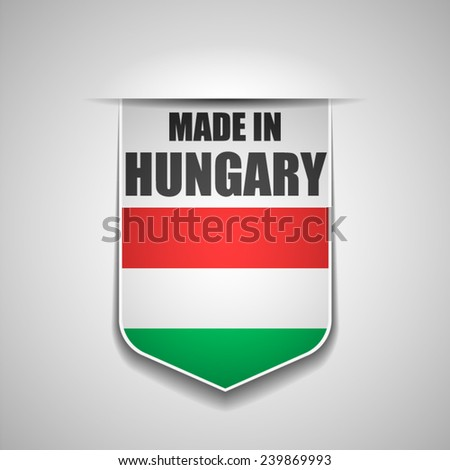 Made in Hungary - stock vector