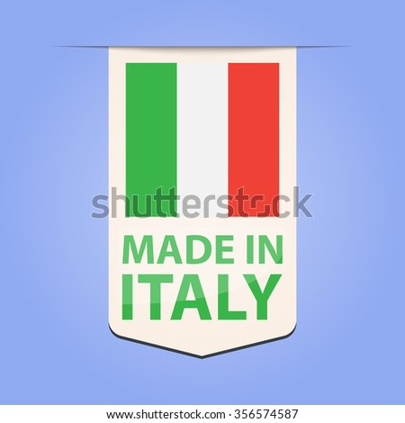 Made in Italy ribbon - stock vector