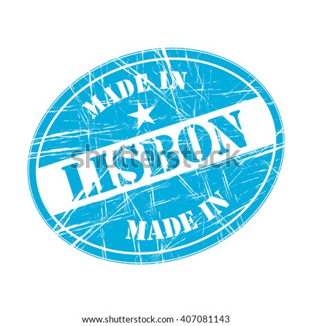 Made in Lisbon rubber stamp - stock vector