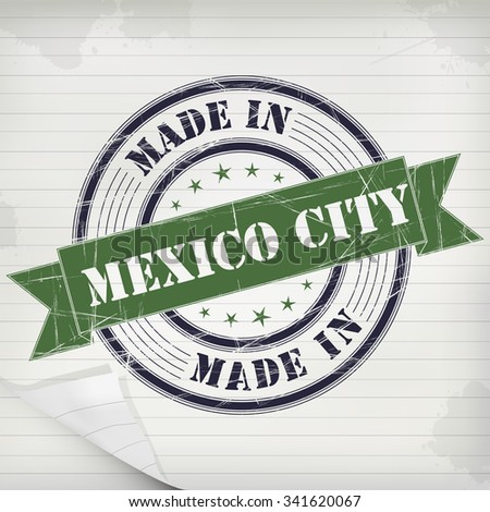 Made in Mexico City vector rubber stamp on grunge paper - stock vector