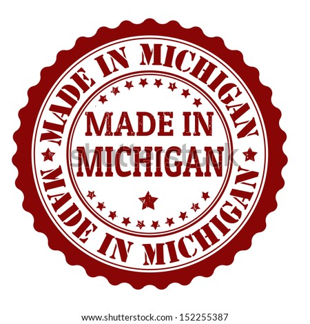 Made in Michigan grunge rubber stamp, vector illustration - stock vector