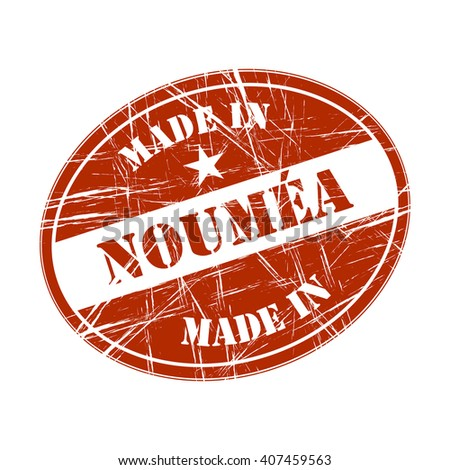 Made in Noumea rubber stamp - stock vector