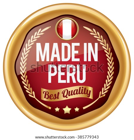 made in peru icon - stock vector
