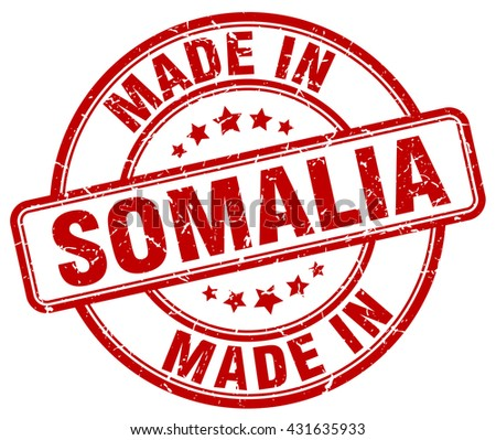 made in Somalia red round vintage stamp.Somalia stamp.Somalia seal.Somalia tag.Somalia.Somalia sign.Somalia.Somalia label.stamp.made.in.made in. - stock vector