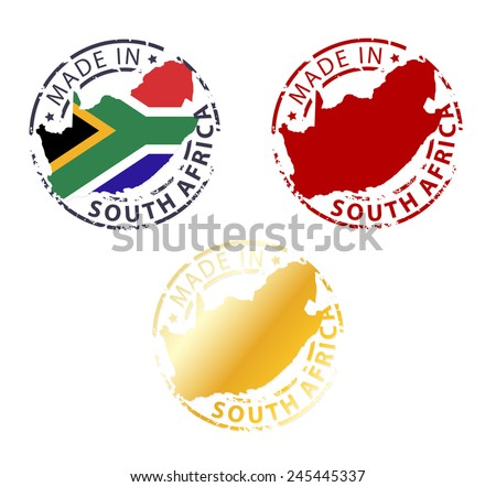 made in South Africa stamp - stock vector