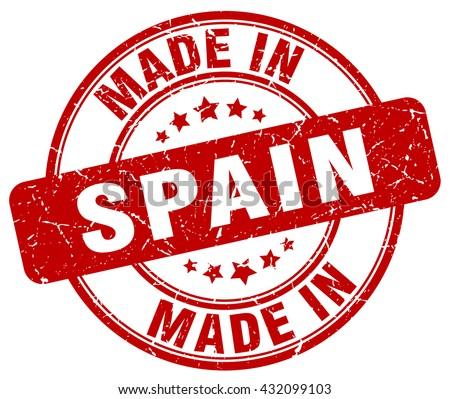 made in Spain red round vintage stamp.Spain stamp.Spain seal.Spain tag.Spain.Spain sign.Spain.Spain label.stamp.made.in.made in. - stock vector