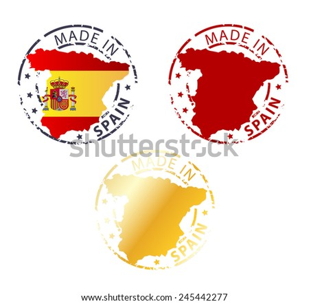 made in Spain stamp - stock vector