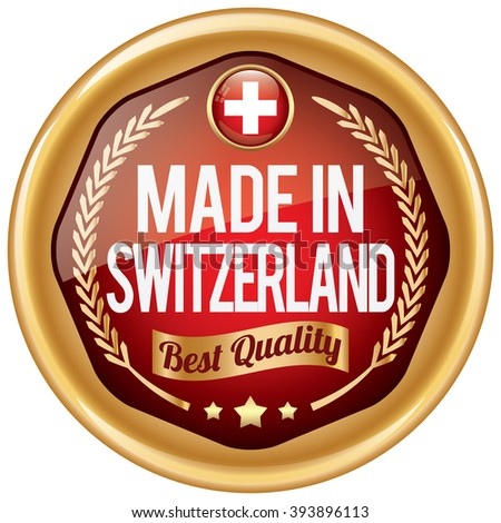 made in switzerland icon - stock vector