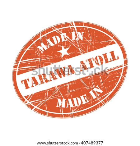 Made in Tarawa Atoll rubber stamp - stock vector