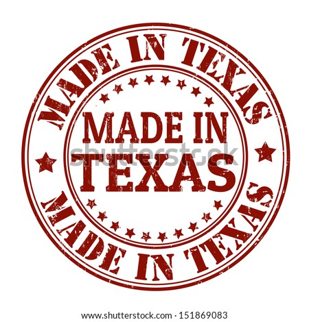 Made in Texas grunge rubber stamp, vector illustration - stock vector