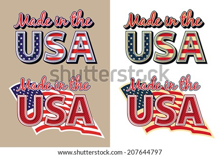 Made in the USA. - stock vector