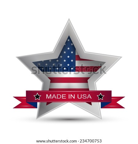 Made in the USA icon or button, stamp badge American buy/vector illustration - stock vector