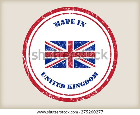 Made in UK grunge rubber stamp.Vector illustration. - stock vector