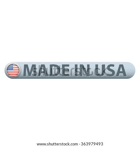 Made in USA badge with flag - stock vector