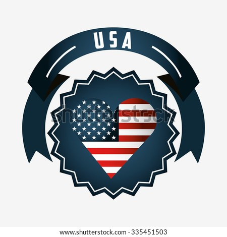 made in usa design, vector illustration eps10 graphic  - stock vector