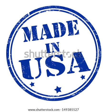 Made in USA grunge rubber stamp, vector illustration - stock vector