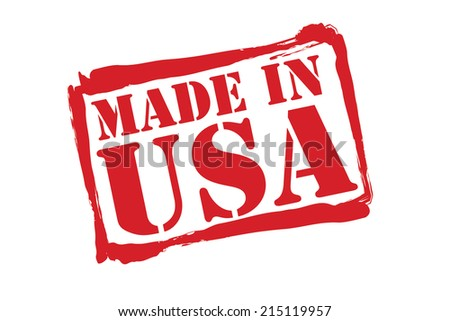MADE IN USA red rubber stamp vector over a white background. - stock vector
