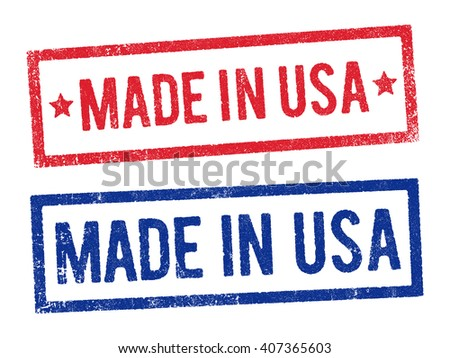 Made in USA stamps 2 - stock vector