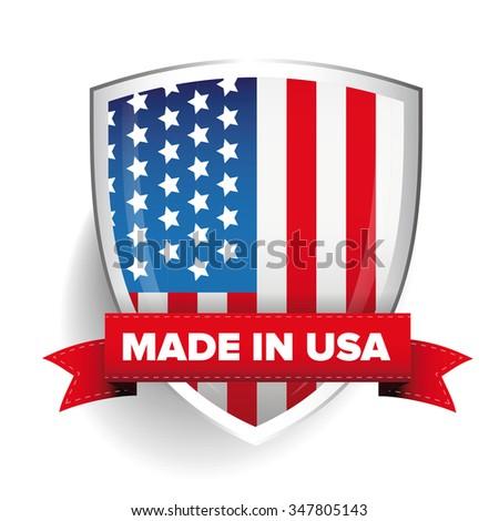 Made in USA vector - stock vector
