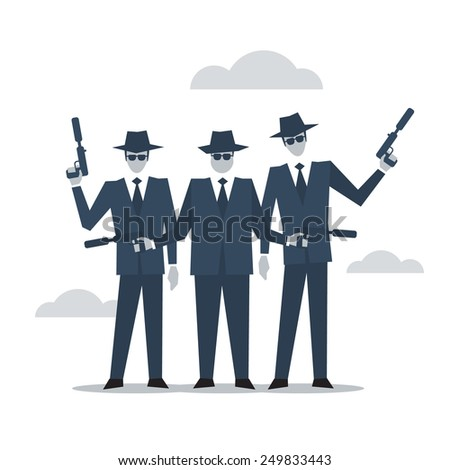 Mafia illustration - stock vector