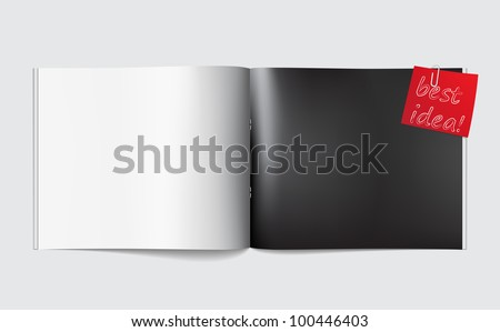 Magazine blank page template for design layout - stock vector