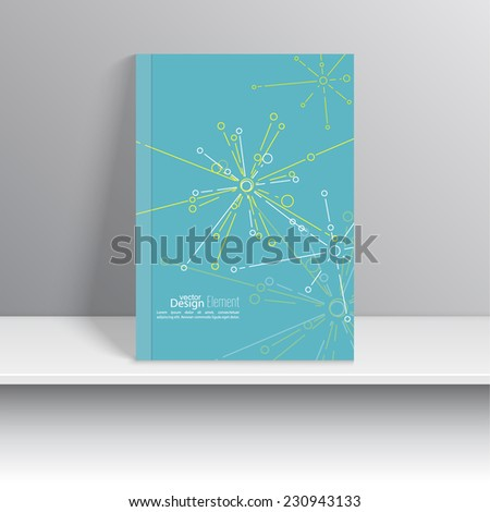 Magazine Cover Explosion, destruction, salute . For book, brochure, flyer, poster, booklet, leaflet, CD cover design, postcard, business card, annual report. vector illustration. abstract background - stock vector