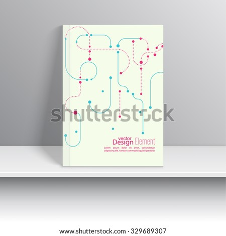 Magazine Cover with curved lines, dotted lines. For book, brochure, flyer, poster, booklet, leaflet, cd cover design, postcard, business card, annual report. vector illustration. abstract background - stock vector