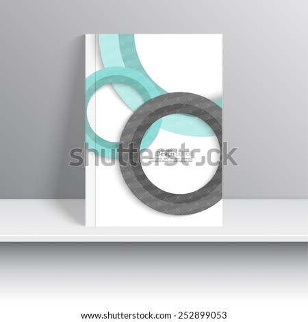 Magazine Cover with paper circles and texture . For book, brochure, flyer, poster, booklet, leaflet, cd cover design, postcard, business card, annual report. vector illustration. abstract background - stock vector