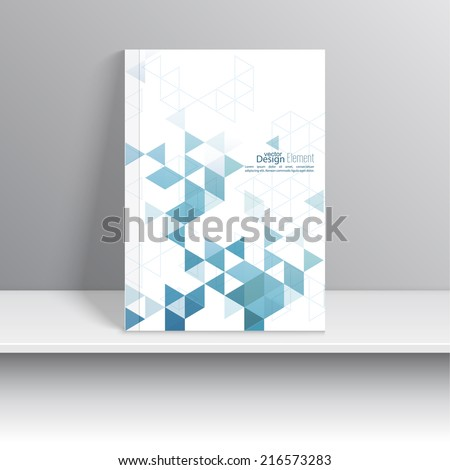 Magazine Cover with pattern, hipster triangle. Modern flat design. Booklet, postcard, business card, annual report, cover. vector illustration. abstract background - stock vector
