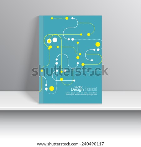 Magazine Cover with scheme circles and lines. For book, brochure, flyer, poster, booklet, leaflet, cd cover design, postcard, business card, annual report. vector illustration. abstract background - stock vector