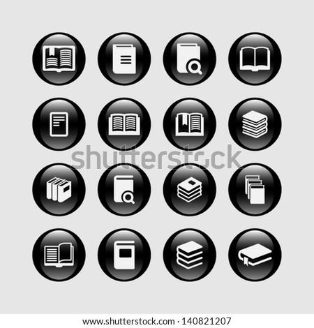 Magazine icon set - stock vector