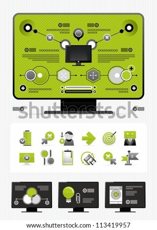magazine infographics - stock vector