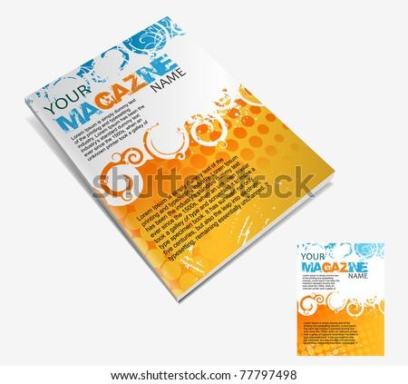 Magazine layout design template. Vector Illustration - stock vector