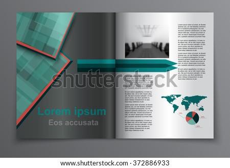 Magazine layout. Vector - stock vector