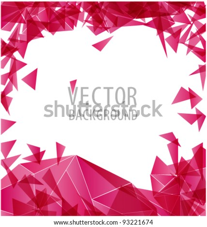 Magenta triangle abstract vector background - stock vector