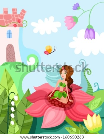magic fairy - stock vector