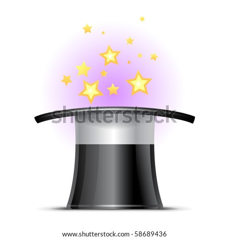 Magic hat - stock vector