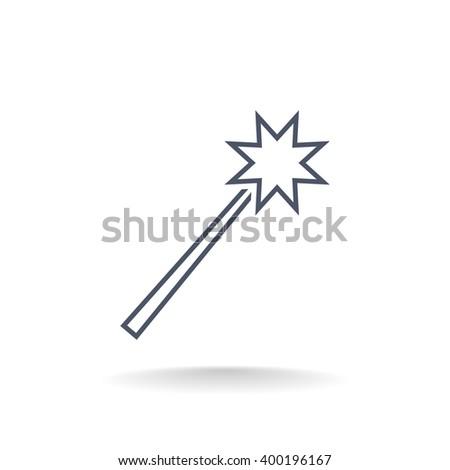 Magic icon, Magic icon eps10, Magic icon vector, Magic icon eps, - stock vector