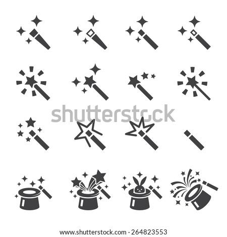 magic icon set - stock vector