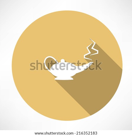 magic lamp - stock vector